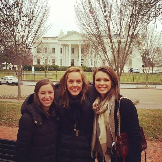 A few friends and I (White House and roof snipers in the background)