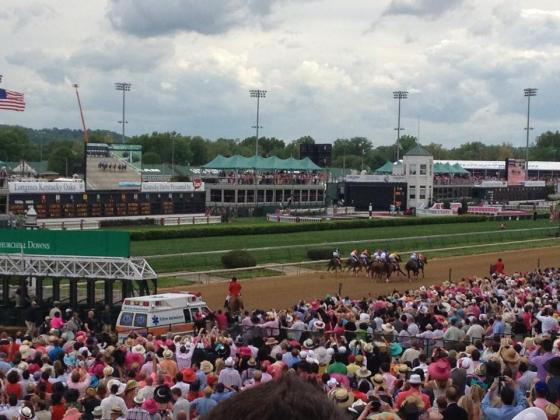 The racetrack at Churchill Downs