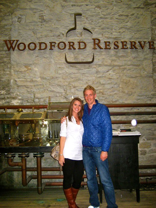 J and I at the beautiful Woodford Reserve distillery.