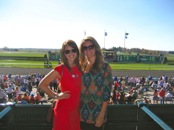 Best view in the house! Up in the boxes at Keeneland