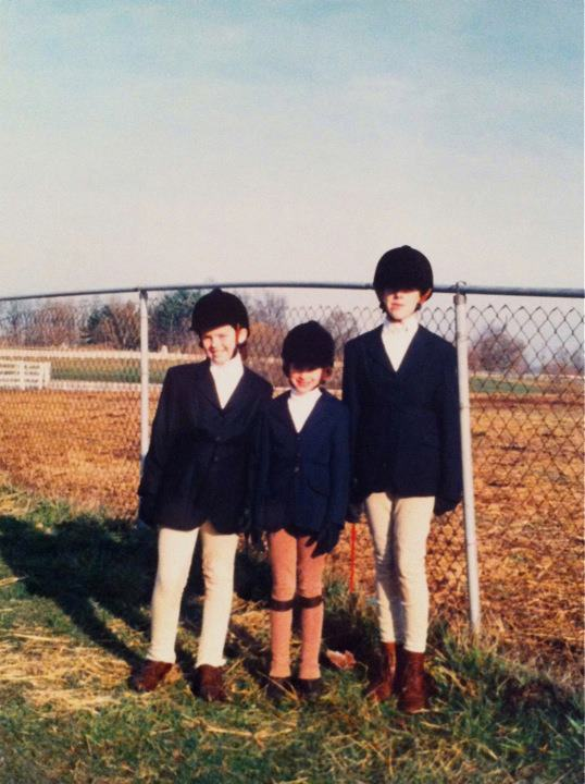 One of my very first times at The Horse Park -- for a horse show with my sisters.