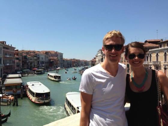 J and I at the Rialto Bridge