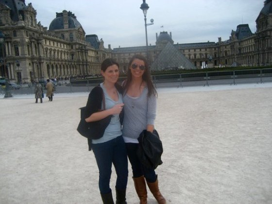 At the Louvre in 2010 with a good friend from study abroad