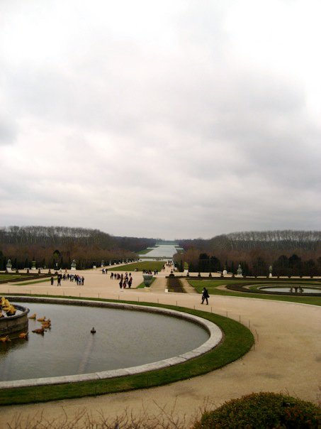Back Gardens at Versailles in Winter