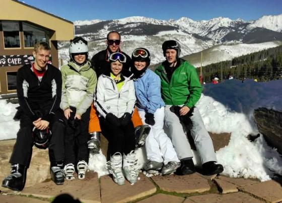 The group in ski heaven