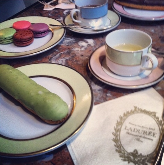 Macaroons at Laduree