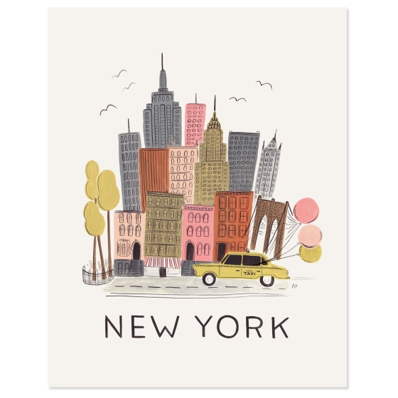 New York Print from Rifle Paper Co.