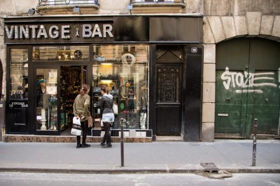 Vintage shop in Le Marais