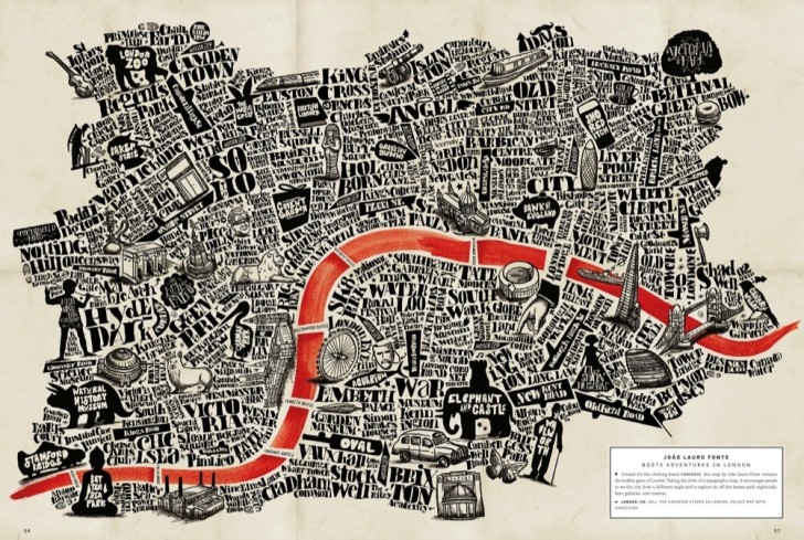 An attempt at illustrating all the neighborhoods in London (photo courtesy of brainpickings.org)