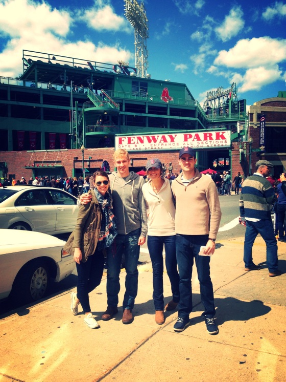 Our group at Fenway Park