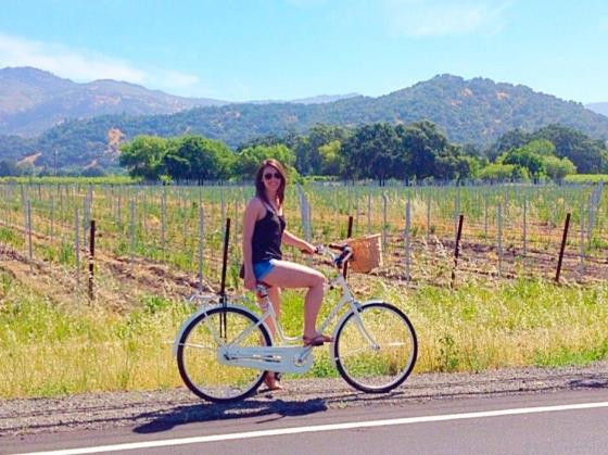 Biking Through Napa Valley