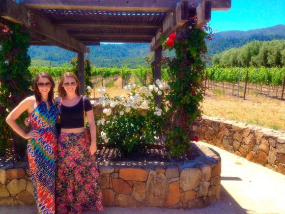 My sister and I touring Robert Mondavi winery