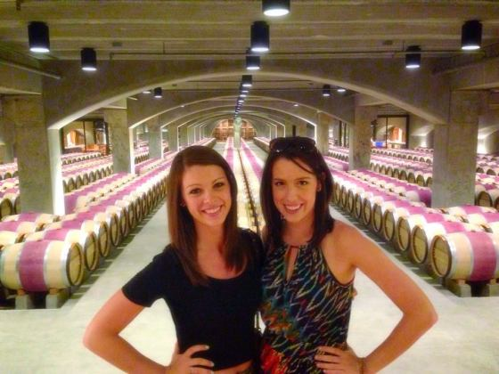 Touring the wine cellars at Robert Mondavi