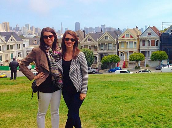 My sister and I in Alamo Square Park