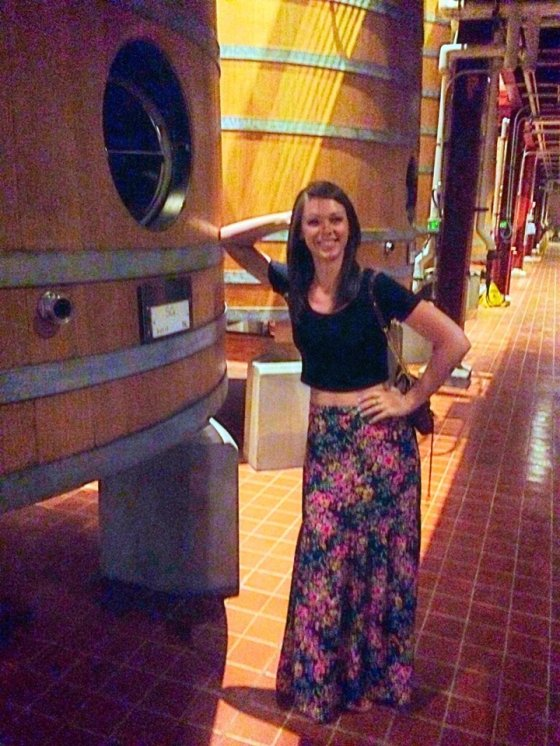 Learning how wine is made at Robert Mondavi Winery