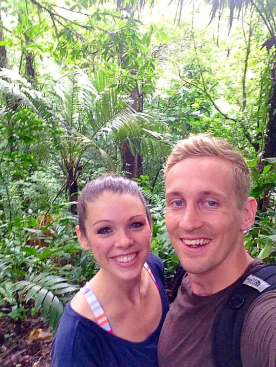 Jungle Selfie along our hike