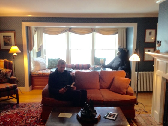 The sitting room at the Windham Hill Inn - I swear this photo wasn't staged!